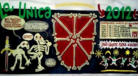 La Unica-koen pankarta